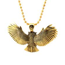 gold owl pendant necklace images Great horned owl pendant necklace king ice touch of modern jpg