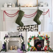 how to decorate your mantel for christmas popsugar home