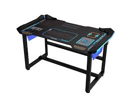 computer gaming desk e blue usa wireless glowing led pc gaming desk table large egt515