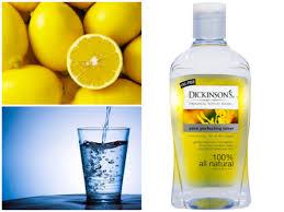 vodka tonic lemon diy lightening and brightening lemon toner beauty banter