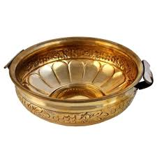 Home Decoration India Buy Urli Brass Bowl Pot For Flowers For Home Decoration Size 8