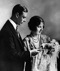 may 1926 george and elizabeth holding their first child future