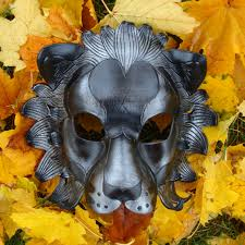 black lion leather mask paperdemon