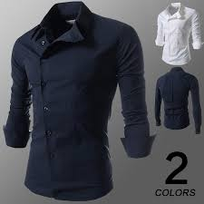 discount 2015 new men u0027s long sleeve solid casual shirt slim fit