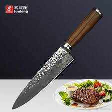 sunlong damascus steel 8 inch chef knife cut meat vegetable knife