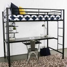 creekside twin loft bed with desk charcoal art van furniture