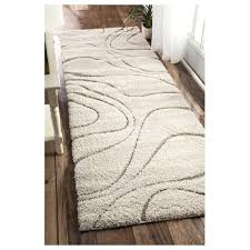Shaggy Runner Rug Nuloom Machinemade Shaggy Beige Runner Rug 2 8 X 8 2 8