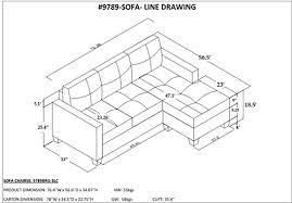 Contemporary Microfiber Sofa Homelegance Phelps Contemporary Microfiber Sofa Chaise With Tufted
