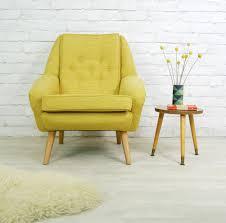 Yellow Arm Chair Design Ideas Vintage Retro Mid Century Mustard Style Armchair Chair
