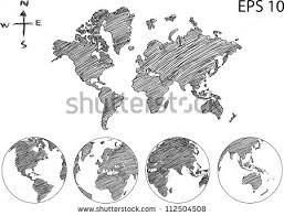 earth globe world map detail vector stock vector 112504508
