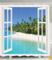 Gazebo Curtain Ideas by Amazon Com Ocean Decor Gazebo Curtains Paradise Island Palm Tree
