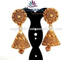 buy jhumka earrings online 2015 gold plated jhumka earrings wholesale south indian gold