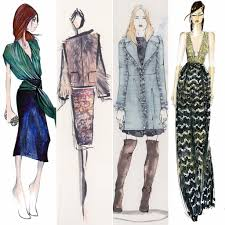 designer sketches from new york fashion week fall 2015 popsugar
