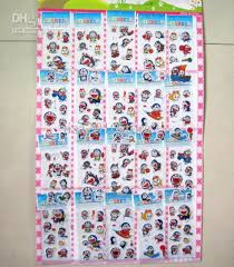 Stickers For Favors by 10 Cardboard Sheet Mixed Doraemon Stickers Decorations