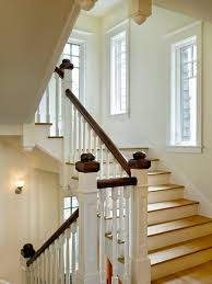 Painted Banisters Stained Handrail Painted Spindles Houzz