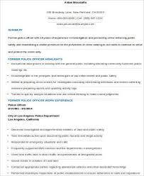 Best Police Officer Resume Example Livecareer by Sample Police Officer Resume 6 Examples In Word Pdf