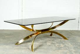 mid century sculptured italian gold coffee table in style of