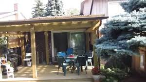 Fiberglass Patio Cover Panels by Deck And Pergola After Installing The Corrugated Panels Youtube