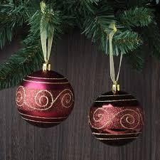 set of 12 nouveau glitter shatterproof ornaments robertson