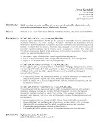 Resume Sample Updated by Secretary Resume Examples Berathen Com