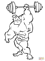 very strong weightlifter coloring page free printable coloring pages