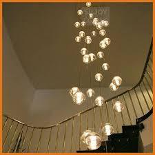 Modern Sphere Chandelier 36 Led Light Modern Clear Cast Glass Sphere Ball Meteor Shower