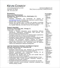 Core Java Developer Resume Sample by Web Developer Resume Template U2013 11 Free Word Excel Ps Pdf