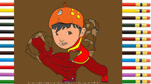 learn drawing coloring boboiboy galaxy bumi ep 13 step by step fun