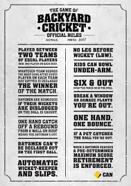 the rules of backyard cricket from the commonwealth bank www