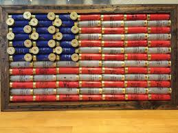 Decoration Hunting Wall Decals Home by Shotgun Shell American 21x12 1 2 Inch Flag Rustic Americana