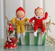 vintage ornaments made in japan 1950s mid kitschy