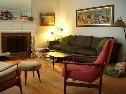 mid century modern living room lcd tv hardwood flooring white