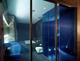 brown and blue bathroom ideas bathroom contemporary blue bathroom designs with blue neon lighting
