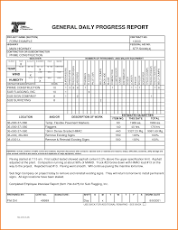 construction cost report template 8 daily progress report template expense report