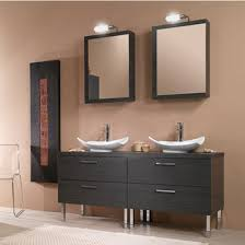 Aurora A Wall Mounted Double Sink Bathroom Vanity Set Includes - Bathroom vanities double sink 2