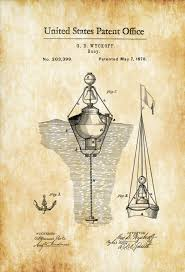 nautical buoy patent print vintage nautical naval art sailor