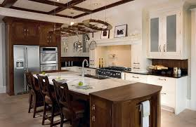kitchen decorating design ideas using solid cherry wooden kitchen