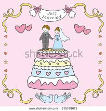 Wedding Greeting Card Doodle Wedding Greeting Card Hand Drawn Stock Vector 358338671