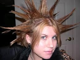 spiked looks for medium hair spike punk hairstyle teenage girls medium hair styles ideas 27623