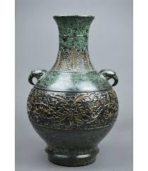 elephant vase ceramic rare chinese bronze vase elephant head qianlong