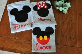 custom disney family matching shirts mickey mouse minnie