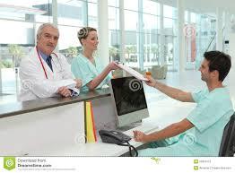 Hospital Reception Desk Hospital Receptionist