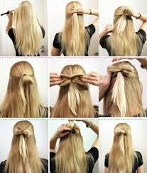 Hochsteckfrisuren Mittellange Haare Einfach by Schnell Und Einfach Aus Den Haaren Eine Schleife Für Eine