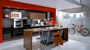 cuisine orange et noir stunning cuisine noir contemporary design trends 2017