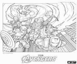 group avengers coloring printable game