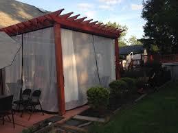 Pergola Mosquito Curtains Mosquito Netting Fabric Colors For Patio Enclosures