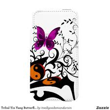 tribal yin yang butterflies pink the iphone cases
