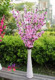Wedding Home Decor Wholesale 12pcs Lot Artificial Branches Of Peach Cherry Blossom