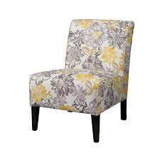 linon home decor lily gray u0026 yellow polyester side chair 36092brid
