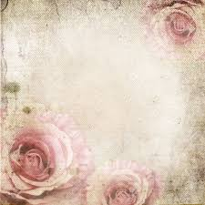 vintage background with roses retro paper stock photo